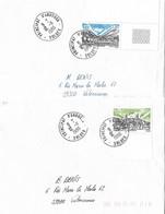 Timbres Sur Lettres 1986 N° 348-9 EUROPA Oblitération De Soldeu Cote 23€ - Cartas