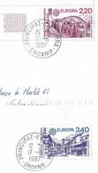 Timbres Sur Lettres 1987 N° 358-9 EUROPA Oblitérations à Voir Cote 31€ - Cartas