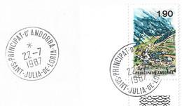 Timbres Sur Lettres 1987 N° 360 Ransol Oblitération De Sant Julia Cote 6,50€ - Cartas