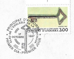 Timbres Sur Lettres 1987 N° 365 Clef Cote 5,50€ - Cartas