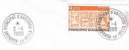 Timbres Sur Lettres 1987 N° 346 Ecu Des Vallées Seul Sur Lettre Cote 5,50€ - Cartas