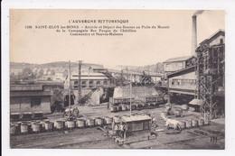 CP 63 SAINT ELOY LES MINES Arrivée Et Départ Des Bennes Au Puits Du Manoir De La Cie Des Forges De Chatillon Commentry - Saint Eloy Les Mines