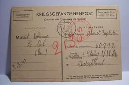 MILITARIA :  POSTES  Des PRISONNIERS De GUERRE - FRANCHISE POSTALE -  STALAG - Année 1941 - Weltkrieg 1939-45