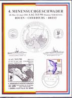 BRD FGR RFA - Erinnerungskarte An AAG 313/90 über Die Teilnahme Des 4. Minensuchgeschaders Am Manöver NORMINEX 1990 - Storia Postale