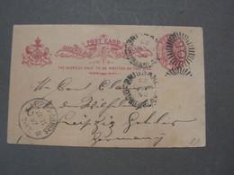 Brisbane , Old Card 1892 Ankunft  To Leipzig Gohris - Briefe U. Dokumente