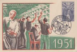 Carte  Maximum  1er  Jour   FRANCE   Journée  Du  Timbre   PARIS   1951 - 1950-59