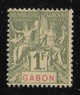 GABON 1904 YT 30(*) - Nuevos