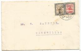 SUDAN 5M+1M LETTRE COVER PORT SUDAN20 MY 1927  TO FRANCE VIA EGYPT CAIRO + SHELLAL HALFA - Sudan (...-1951)