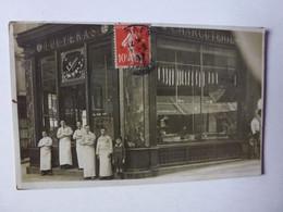 CARTE PHOTO IDENTIFIER PAR DELCAMPEUR, MAISON TOUYERAS CHARCUTERIE,1 RUE DES HALLES A LIMOGES,ANNUAIRE 1914 - Limoges