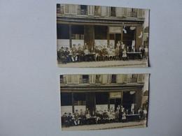 """2 CARTES PHOTO A IDENTIFIER, MAISON LE POUCHAUX SIGNE """" SOUVENIRS DE VERSAILLES 4 PLACE SYMPHONIE?"""" - Versailles"""