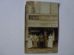CARTE PHOTO A IDENTIFIER, CHATEAU DE MARE? OEUFS FRAIS DE NORMANDIE - To Identify