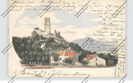 5300 BONN - BAD GODESBERG, Blick Auf Die Godesburg, 1902, Handcoloriert - Bonn