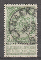 N° 56 OBLITERATION  LANAEKEN - 1893-1907 Stemmi