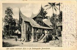 PC CPA Padangsche Bovenlande Malaisch Huis INDONESIA (a16569) - Indonesien