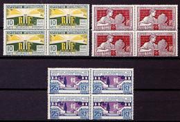 210 - 212 - 213 - 3 Blocs De 4 Exemplaires - Neufs N** (légères Adhérences Verso) - Ungebraucht