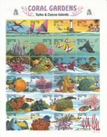 Turks & Caicos Islands 1999, Bird, Birds, Lighthouse, Fishes, Coral, M/S Of 24v + 2xS/S, MNH** - Vita Acquatica