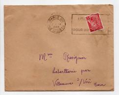 - Lettre PARIS Pour LA BARTHARIÉ Par VILLENEUVE-SUR-VÈRE (Tarn) 10.4.1939 - 30 C. Rouge Type Mercure - - Covers & Documents