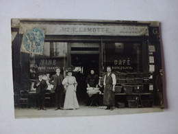 CARTE PHOTO,A IDENTIFIER, MAISON P. LAMOTTE, CAFE - Te Identificeren