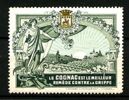 """Vignette """"Le Cognac Est Le Meilleur Remède Contre La Grippe"""" - Gommée - Petit Aminci En Angle - Turismo (Viñetas)"""