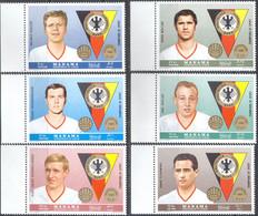 M3330 ✅ Sport Football Soccer German Footballers 1969 Manama 6v Set MNH ** 10ME - Club Mitici