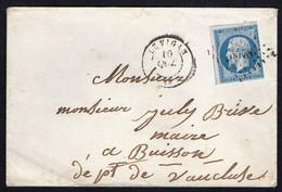 FRANCE ( OBLITERATION LOSANGE )  PC  SUR  ENVELOPPE  3578   Vigan (le)  Gard  , A  SAISIR . TIR - 1849-1876: Klassik