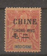 Chine-Tchong- King_   (1902 ) 50c Rouge-  2 Langues  N° 28 - Unclassified