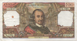 France : 100 Francs 1977 (mauvais état) - 1962-1997 ''Francs''
