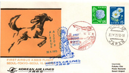 KAL - Tokyo Seoul 1975 - Inaugural Flight Airbus A 300 B - 1er Vol Erstflug - Japan - Korea, South
