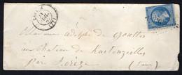 FRANCE ( OBLITERATION LOSANGE )  PC  SUR  ENVELOPPE  ?????  , A  SAISIR . TIR - 1849-1876: Klassik