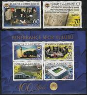 2007 Turkey Centenary Of Fenerbahce SC Set And Minisheet (** / MNH / UMM) - Club Mitici