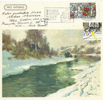 Pro Infirmis - Flusslandschaft Im Winter  (750 Jahre Bern)          1941 - Covers & Documents