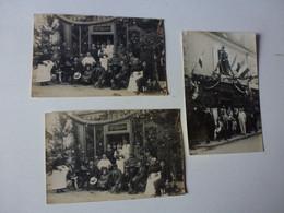 3 CARTES PHOTO A IDENTIFIER,CAFE RESTAURANT,A.TREMINE,PLUSIEURS ADRESSES POSSIBLE A PARIS,RUE DU TEMPLE OU Bd St GERMAIN - Te Identificeren