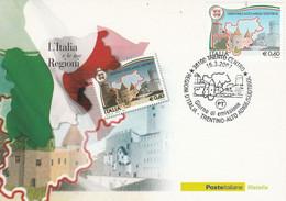 ITALIE CARTE MAXIMUM 2007 JUMELAGE TRENTINO-ALTO ADIGE / SÛD TYROL - Affrancature Meccaniche Rosse (EMA)