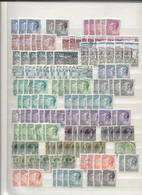 Gros Lot De 17 Pages De Timbres Du Luxembourg Oblitérés Envoi GRATUIT - Collections