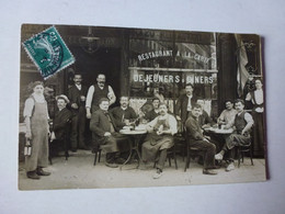 CARTE PHOTO A IDENTIFIER, MAISON ED. CHATILLON RESTAURANT POSTEE DE PARIS RUE LEDRU-ROLLIN - Zu Identifizieren