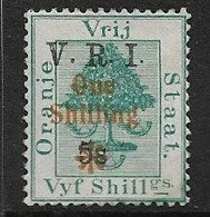 SOUTH AFRICA - ORANGE RIVER COLONY 1902 1s On 5s SG 138 LIGHTLY MOUNTED MINT Cat  £10 - Orange Free State (1868-1909)