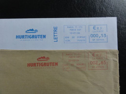 "Ema Hurtigruten - ""la Norvège ..."" - 2 Dessins : 2004 Et 2006 - SP 457454 - Freistempel"