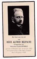 ROESELARE - Alfred Belpaire ° 16/01/1880 † 4/8/1938 - Imágenes Religiosas