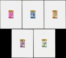 Togo épreuves De Luxe N°453 /456 + PA48 Jeux Africains  5 épreuves De Luxe - Togo (1960-...)