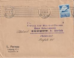 Allemagne Lettre Leipzig Pour La Suisse 1936 - Briefe U. Dokumente