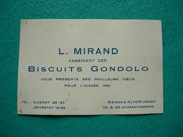Petit Calendrier 1931 - Biscuits GONDOLO - MIRAND - Maisons Alfort - Calendars