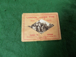 VINTAGE UK LONDON: LONDON UNDER FIRE X12 Small Size Sepia + Envelope Photochrom WWII - Altri