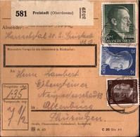 ! 1943 Freistadt Nach Altenburg, Landpoststempel Harrachsthal, Paketkarte, Deutsches Reich, 3. Reich - Brieven En Documenten