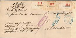 Paketbegleitbrief Vom 17.7.1863 Mit 3 Nummernaufklebern Für 3 Pakete,selten! - [1] Prephilately