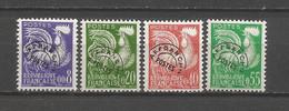 FRANCE ANNEE 1960 PREOB. N°119 à 122 NEUFS ** MNH TB COTE 45 € REMISE -90% - 1953-1960