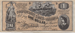 Confederates Of America : 1 Dollar 1862 - Confederate (1861-1864)