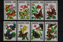 Ghana, Schmetterlinge, MiNr. 1692-1699, Postfrisch / MNH - Ghana (1957-...)