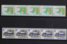 Deutschland (BRD), MiNr. 1406-1407 R I, 5er Streifen, Postfrisch / MNH - Rolstempels
