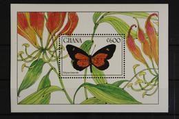 Ghana, Schmetterlinge, MiNr. Block 153, Postfrisch / MNH - Ghana (1957-...)