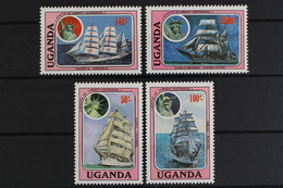 Uganda, Schiffe, MiNr. 485-488, Postfrisch / MNH - Oeganda (1962-...)